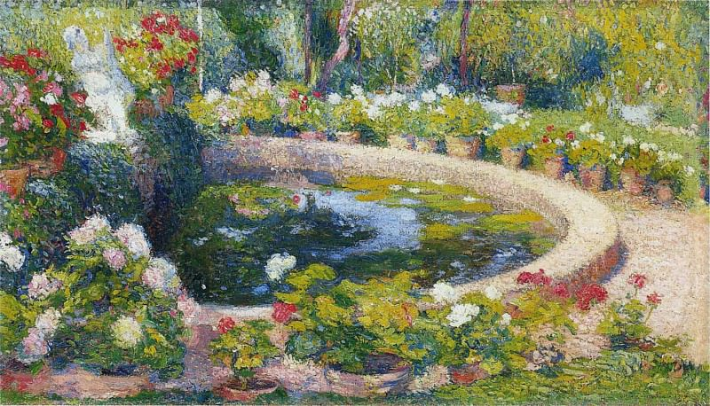 Fountain in the Center of the Park. Henri-Jean-Guillaume Martin