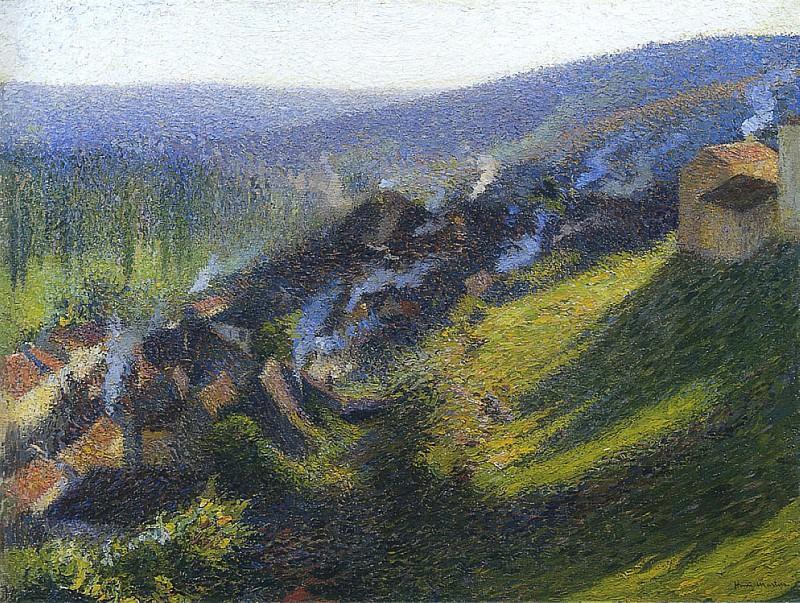 Labastide du Vert in Afternoon. Henri-Jean-Guillaume Martin