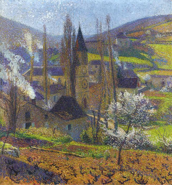 Labastide in Spring behind the Presbytere. Henri-Jean-Guillaume Martin