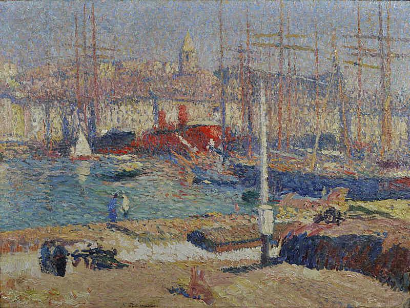 Port de Marseilles. Henri-Jean-Guillaume Martin