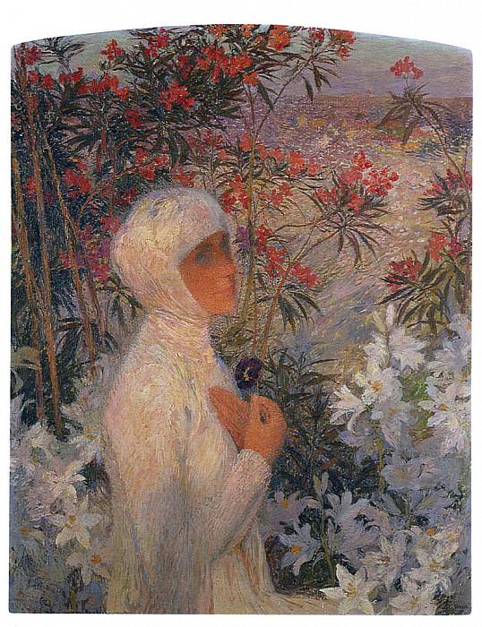 The Poetess 1890. Henri-Jean-Guillaume Martin