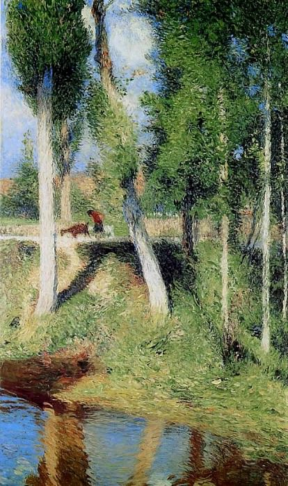 Bord de Riviere aka By the River 1884. Henri-Jean-Guillaume Martin