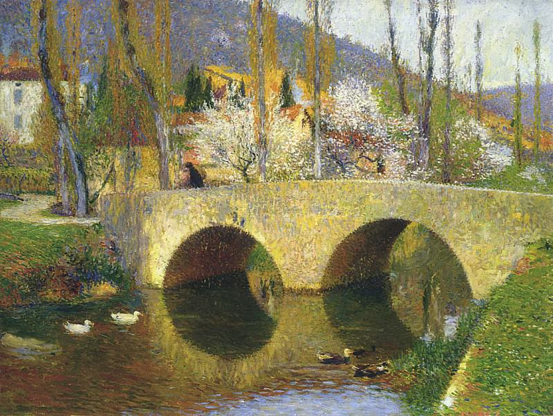 The Bridge at Labastide du Vert. Henri-Jean-Guillaume Martin