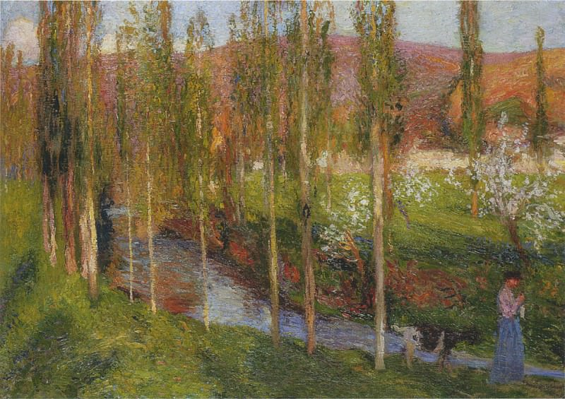 Valle du Vert with Shepherdess. Henri-Jean-Guillaume Martin