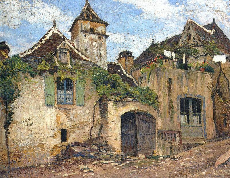 Maison dans le Village. Henri-Jean-Guillaume Martin
