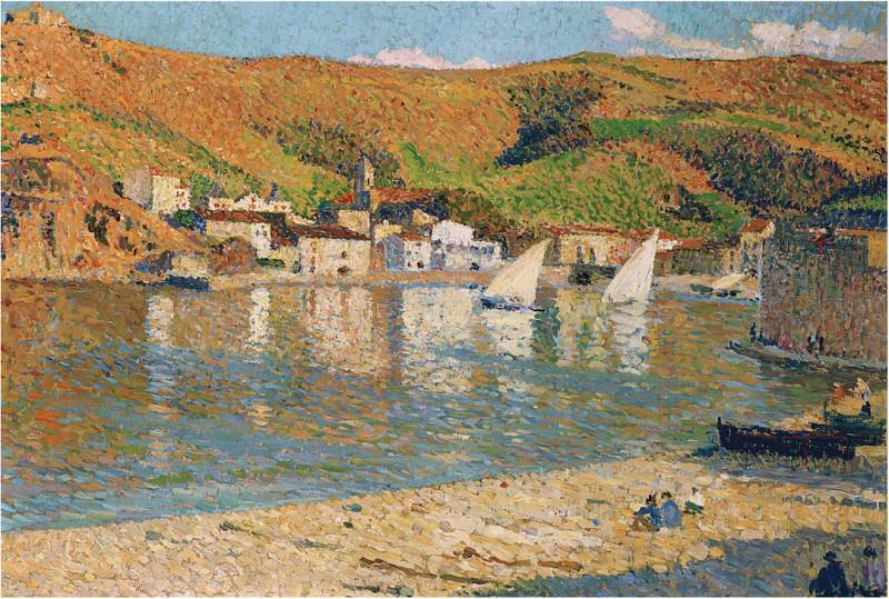 Port Collioure 01. Henri-Jean-Guillaume Martin