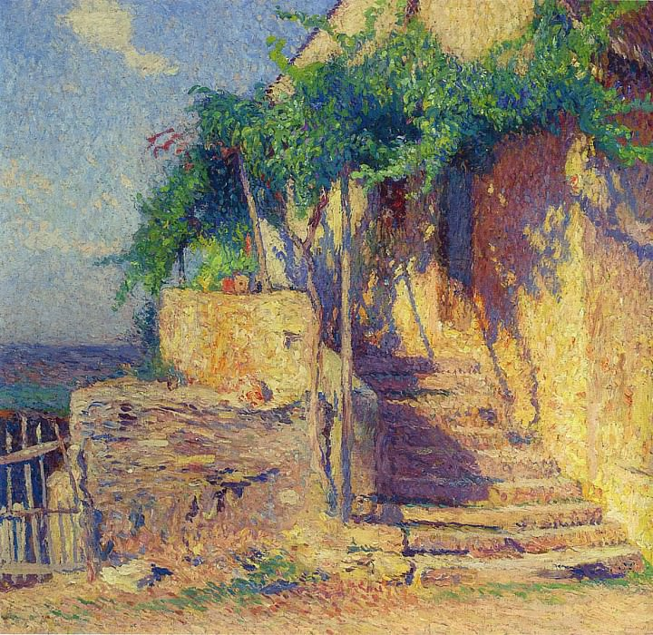 House with Vine and Staircase. Henri-Jean-Guillaume Martin