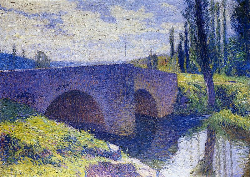 Pont Saint Medard at Midday. Henri-Jean-Guillaume Martin