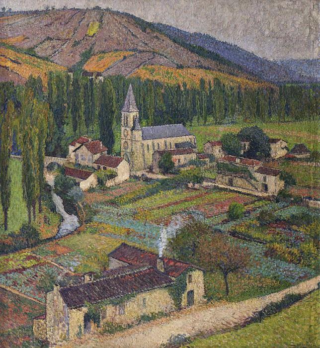 Village de Labastide du Vert et son Eglise. Henri-Jean-Guillaume Martin