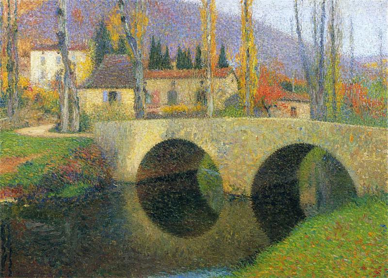 Pont sur le Vert en Labastide du Vert. Henri-Jean-Guillaume Martin