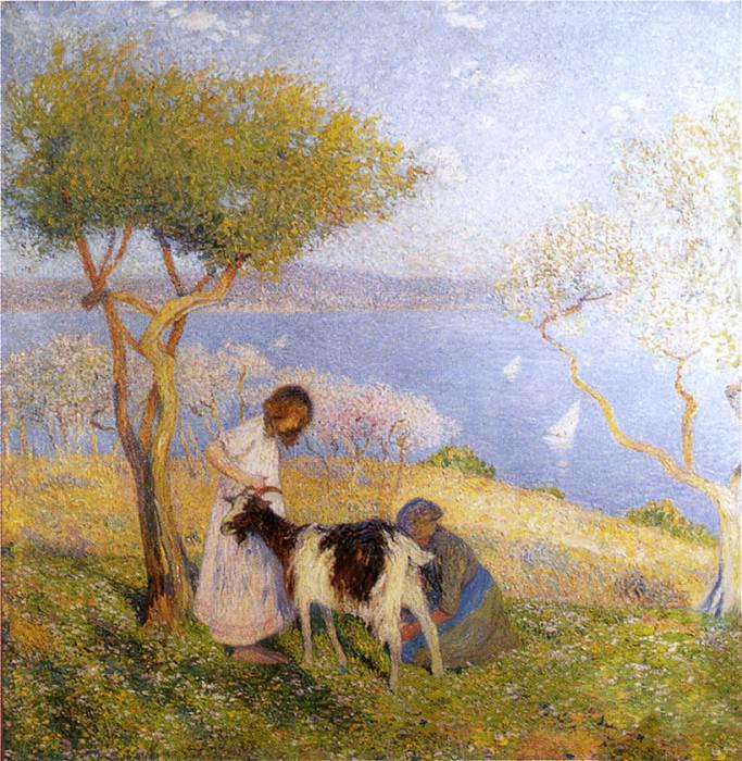 Пейзаж с козой. Анри-Жан-Гийом Мартин