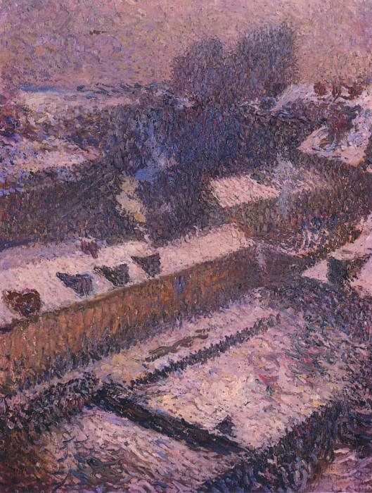 The Roofs of Paris in Snow. Henri-Jean-Guillaume Martin