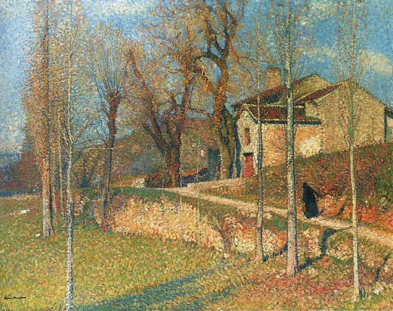 Near Colliure in Twilight. Henri-Jean-Guillaume Martin