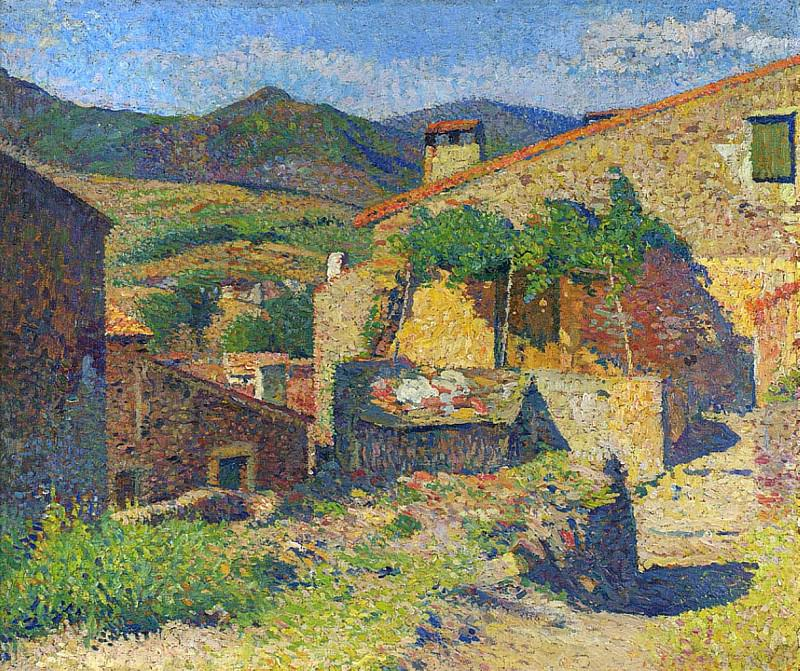 Village dans le Lot Rue Ensoleille. Henri-Jean-Guillaume Martin