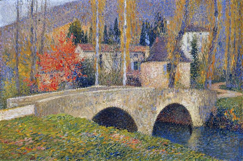 Le Pont de Labastide du Vert en Automne. Henri-Jean-Guillaume Martin