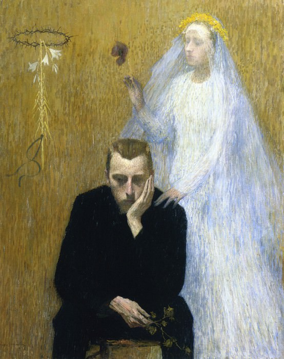 Mystic Scene 1895. Henri-Jean-Guillaume Martin