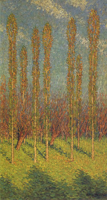 Poplars in Spring. Henri-Jean-Guillaume Martin