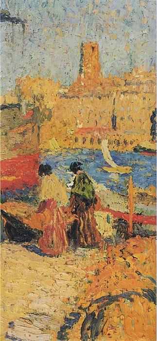 Женщины, сидящие в порту. Анри-Жан-Гийом Мартин