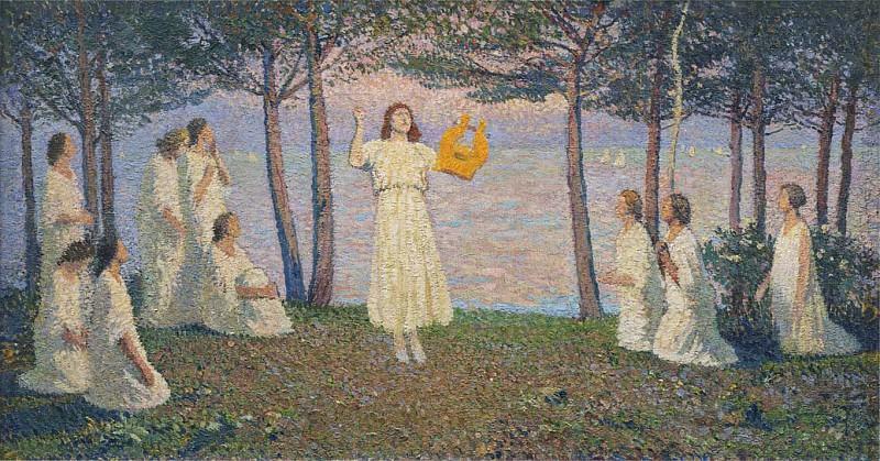 Poetesses on a Take Shore. Henri-Jean-Guillaume Martin