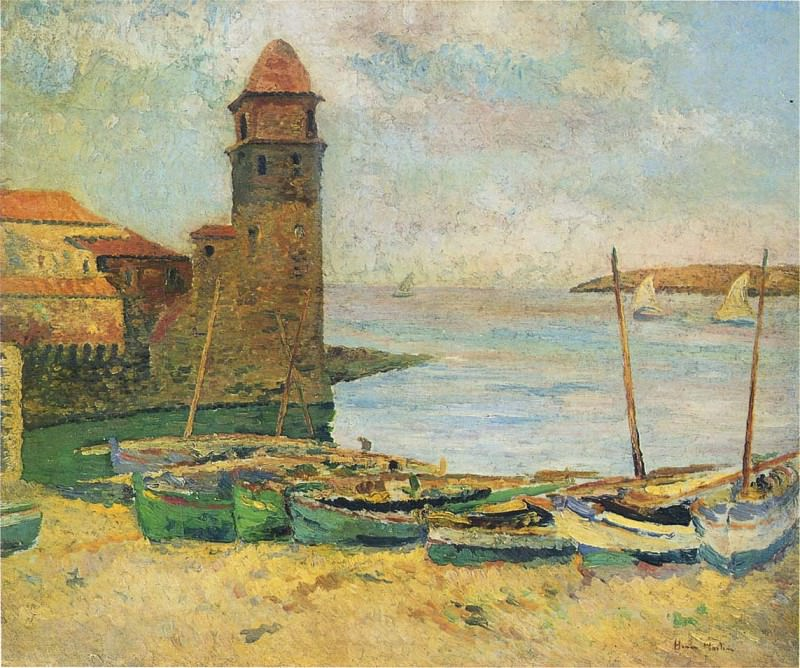 Le Port de Collioure. Henri-Jean-Guillaume Martin