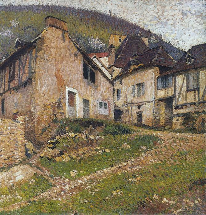 Houses in the Village. Henri-Jean-Guillaume Martin