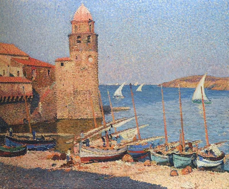 Port Collioure 03. Henri-Jean-Guillaume Martin