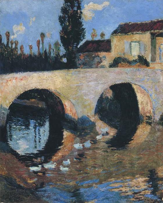 Le Pont sur le Riviere. Henri-Jean-Guillaume Martin