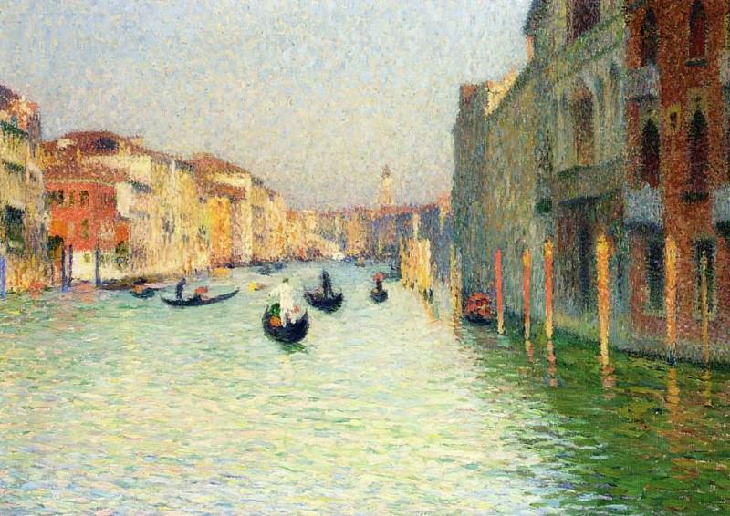 Gondolas in Venice 1909. Henri-Jean-Guillaume Martin