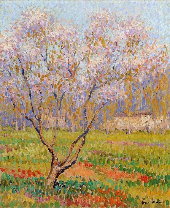 Trees in Bloom. Henri-Jean-Guillaume Martin