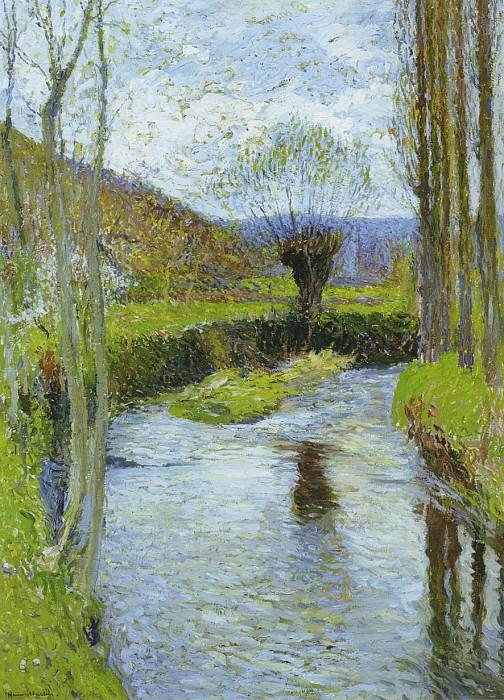 River Vert in Spring. Henri-Jean-Guillaume Martin