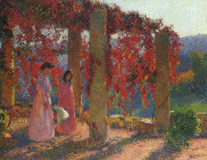 Jeune Femmes en Tonnelle. Henri-Jean-Guillaume Martin