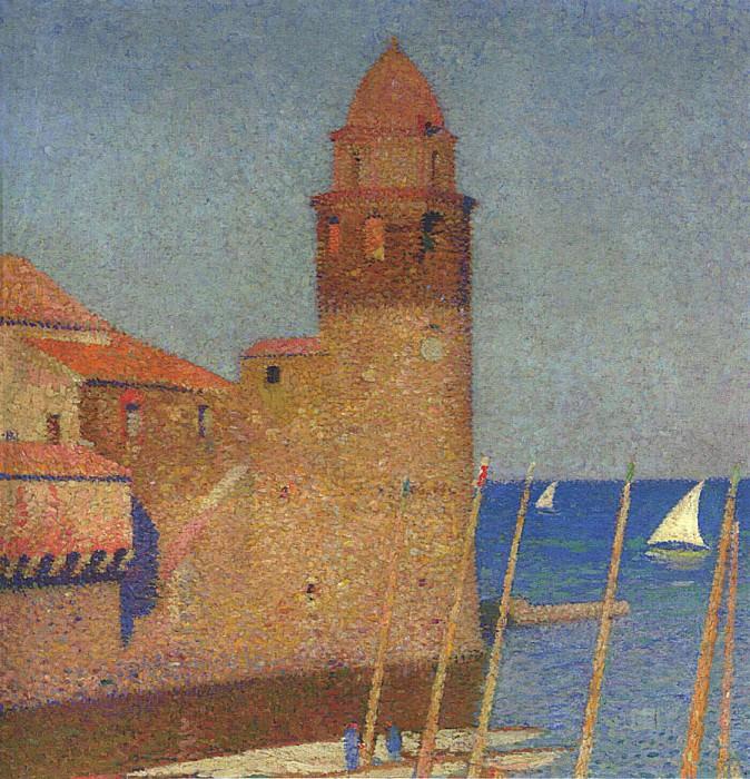 Vue de Collioure. Henri-Jean-Guillaume Martin