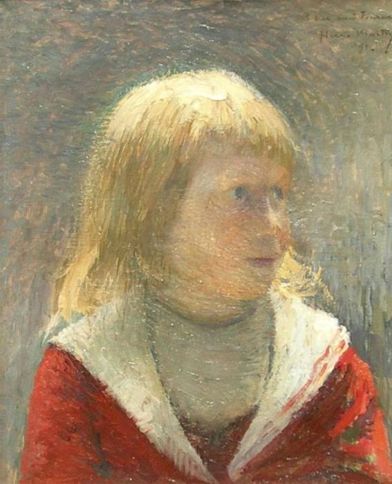Child in Red Jacket 1891. Henri-Jean-Guillaume Martin