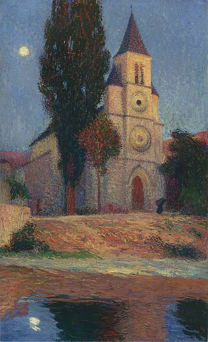 Church by the River. Henri-Jean-Guillaume Martin