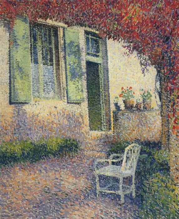 Дворик перед садом. Анри-Жан-Гийом Мартин