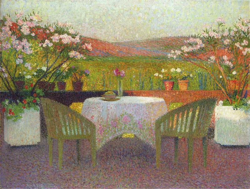 Terrace in Marquayrol. Henri-Jean-Guillaume Martin