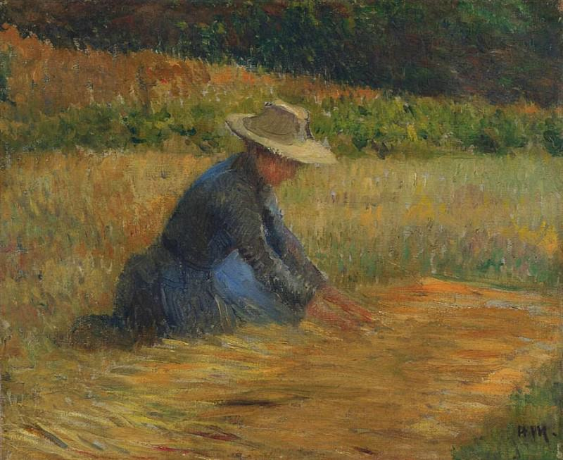 Peasant Woman in the Fields. Henri-Jean-Guillaume Martin