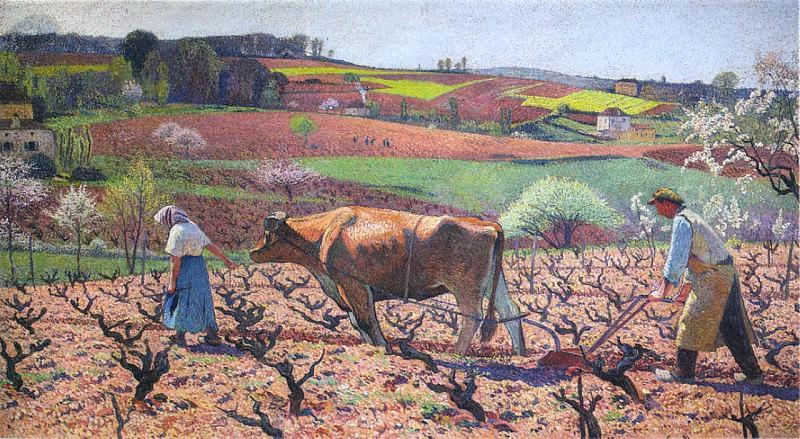 Laborers Prepare the Vines in Quercy. Henri-Jean-Guillaume Martin