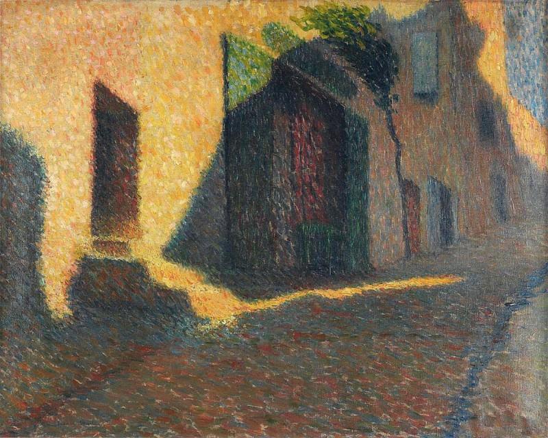 Rue Village dans une Hombre Violette. Henri-Jean-Guillaume Martin