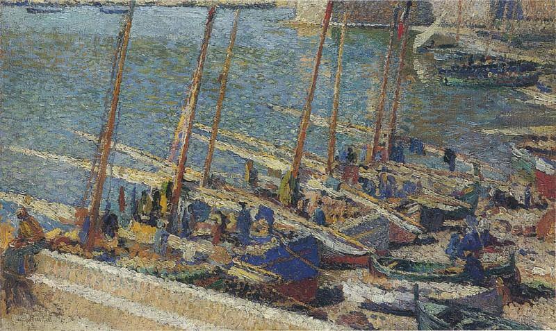 Лодки в порту Коллиура. Анри-Жан-Гийом Мартин