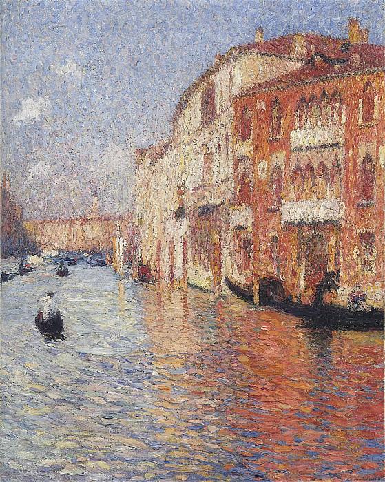 Jaune Palace in Venice. Henri-Jean-Guillaume Martin