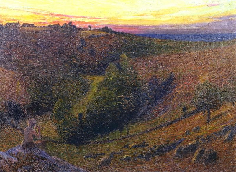 Jouant de Pipeau au Cocher Soleil aka Playing Pipes to the Setting Sun. Henri-Jean-Guillaume Martin