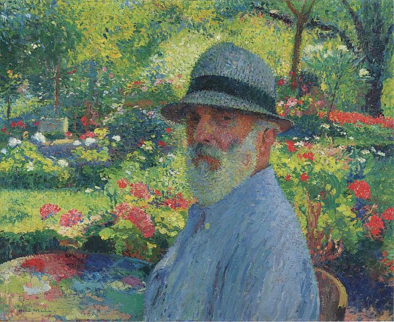 Self Portrait in the Garden. Henri-Jean-Guillaume Martin