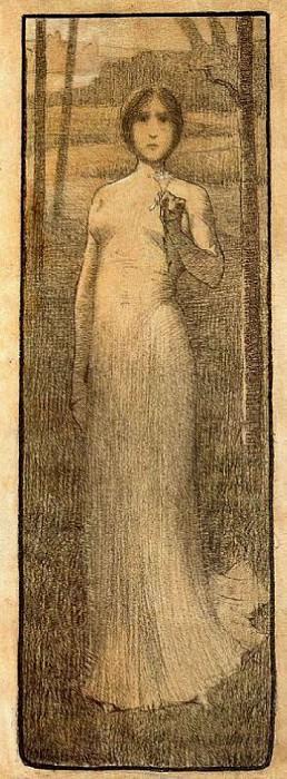 Mujer con Lis. Henri-Jean-Guillaume Martin