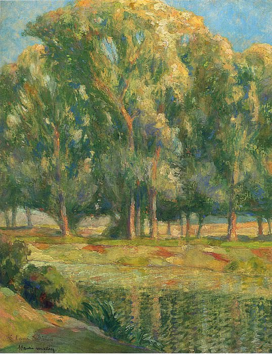 Trees by the River. Henri-Jean-Guillaume Martin