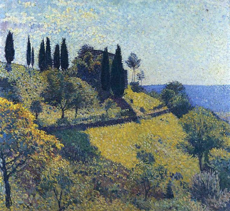 Вид из мастерской художника, 1902. Анри-Жан-Гийом Мартин