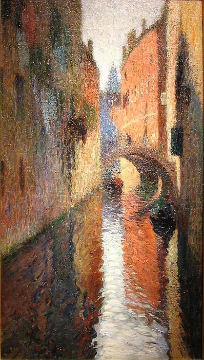 Canal in Venice. Henri-Jean-Guillaume Martin