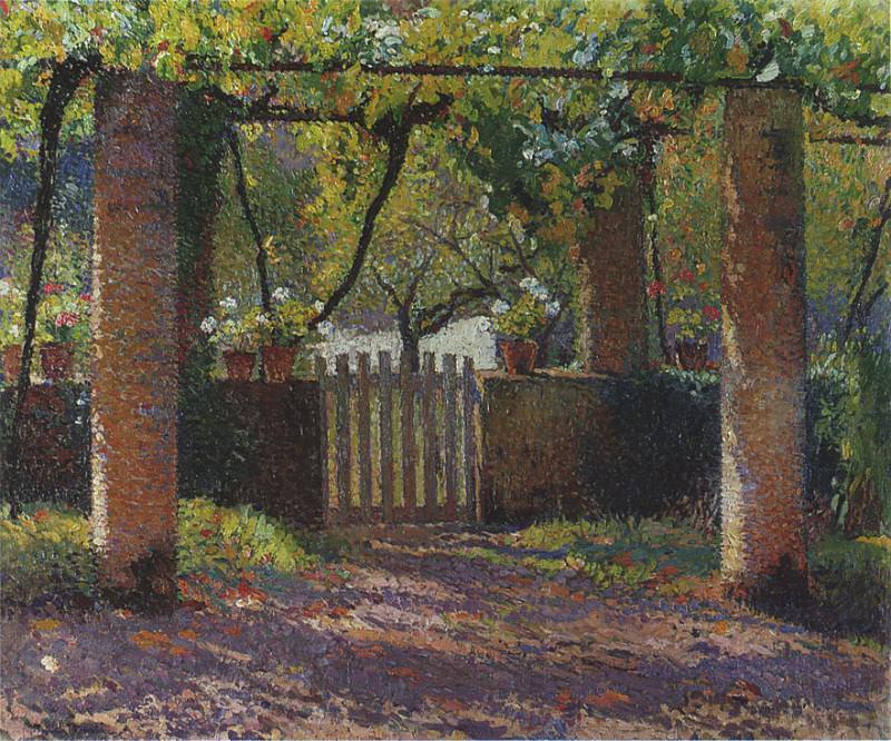 Porte du Potager dans Tonnelle sur de Marquayrol. Henri-Jean-Guillaume Martin