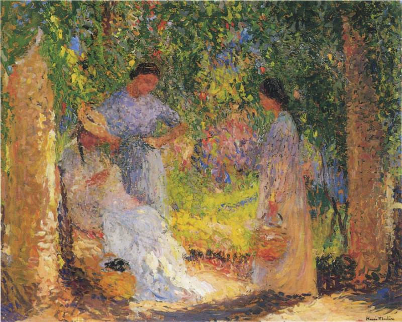 Trois Femmes dans un jardin 1915. Henri-Jean-Guillaume Martin