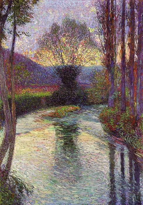 Reflected Willow on the Green 1915. Henri-Jean-Guillaume Martin